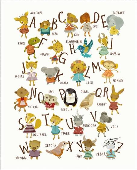 454 562 In Full Alphabet Kids Art Print Nursery