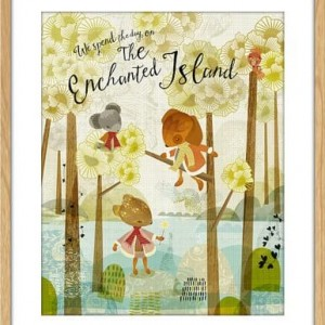 full print enchanted island floral art prints by sabine reinhart