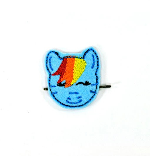 rainbow-dash-barrette   My Little Pony Hair Clip   Handmade Hair Accessories shop now at Pop Shop America