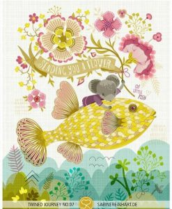 sending you a flower full print   Nursery prints with fish   floral art prints by sabine reinhart   art and other handmade goods available for purchase at Pop Shop America