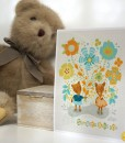 someone loves you childrens art print with background | deer art prints | shop handmade craft art at Pop Shop america