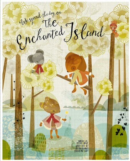 the enchanted island animals print animal art | nursery prints with mouse deer and other animals