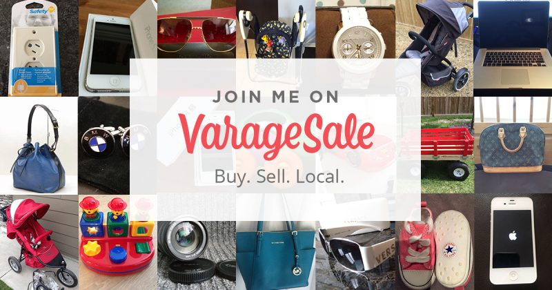 varage sale garage sale app promo photo | declutter your home and make money from home app
