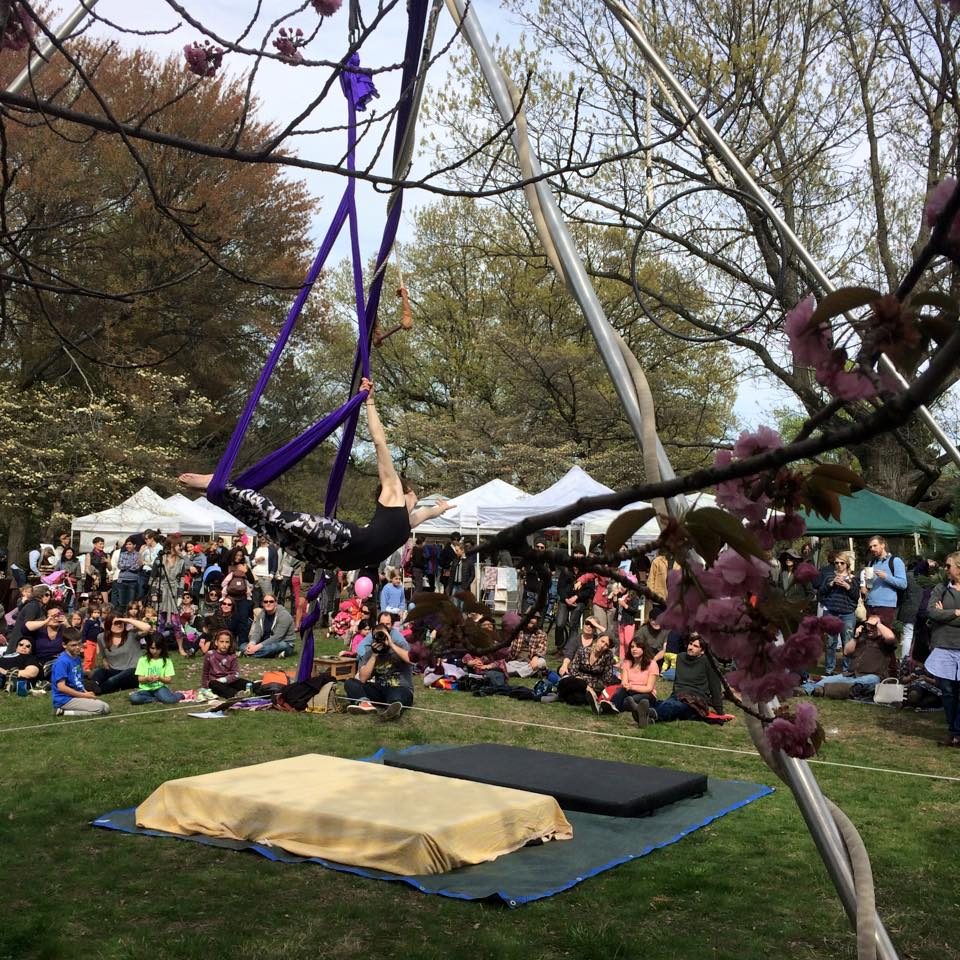 acrobats at go west craft fest west philadelphia