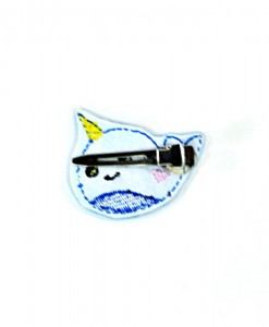back-of-narwhal-barrette cute kawaii accessories and handmade goods for animal lovers