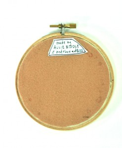 back-of-teepee-embroidery | Embroidery Hoop Art from Pop Shop America Art Events and Blog