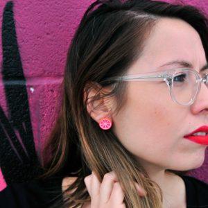 cristina-wearing-large-grapefruit-stud-earrings