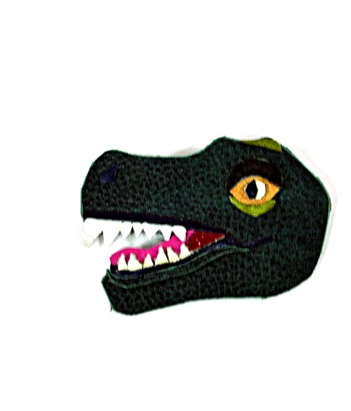 dark-green-leather-t-rex-dinosaur-brooch | Tyrannosaurus Rex Leather Jewelry