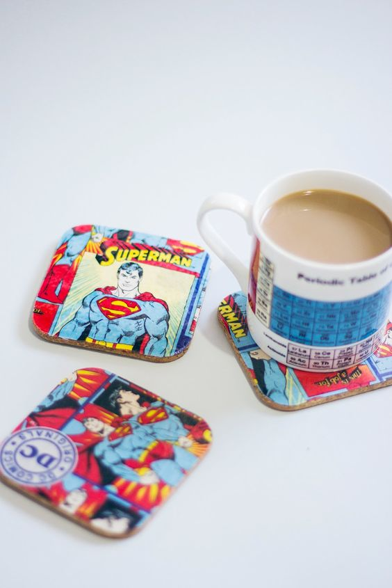 diy comic book coasters workshop