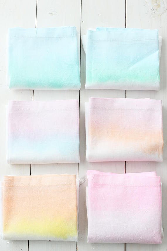 diy-watercolor-cloth-napkins craft workshops