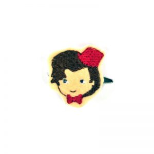 dr-who-with-fez-barrette | Dr Who Sci Fi Hair Clip | Handmade Anime Hair Accessories Made in Texas