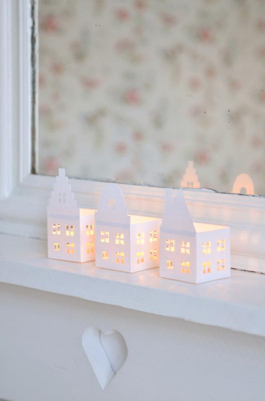 houses paper lanterns art class