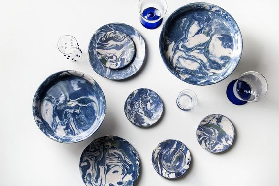 marbled clay ring dishes simple life istanbul