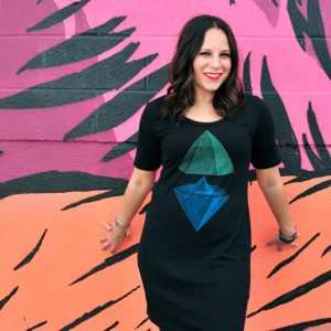 michelle-wearing-pyramid-t-shirt-dress-by-supermaggie