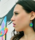 michelle-with-lolli-blue-origami-star-earrings