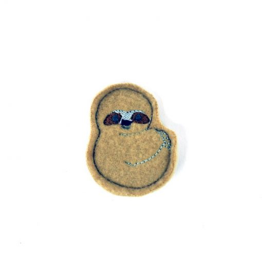 silly-sloth-barrette | Animal Accessories at Pop Shop America Handmade Boutique | Shop Local