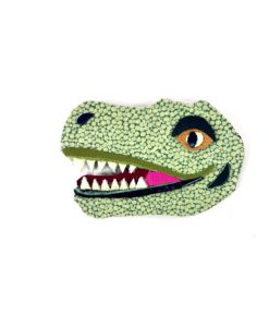 tyrannosaurus-rex-brooch-by-jason-villegas-1 | Leather T Rex Dinosaur Brooch | Handmade Jewelry at Pop Shop America Online Boutique