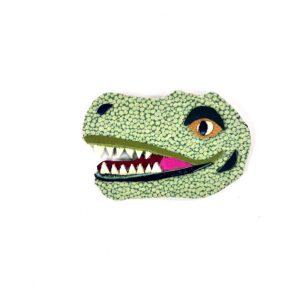 tyrannosaurus-rex-brooch-by-jason-villegas-1   Leather T Rex Dinosaur Brooch   Handmade Jewelry at Pop Shop America Online Boutique