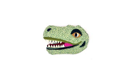 tyrannosaurus-rex-brooch-by-jason-villegas-1 | Leather T Rex Dinosaur Brooch | Handmade Jewelry at Pop Shop America Online Boutique