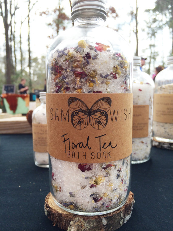handmade bath soak floral tea bath soak by sam wish