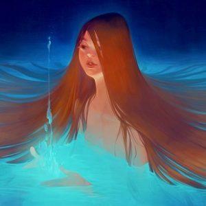 Lois Van Baarle Girl in Water Digital Illustration | Photoshop Art Computer Art