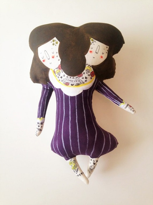Two Headed Girl Carnival Circus Plush Doll from the Pop Shop America Blog