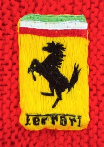 Detail of Yarn Ferrari by Lauren Porter Yarn Art Textile Art Contemporary Sculpture