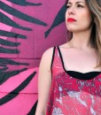 another detail of the big pink floral rickshaw tank top