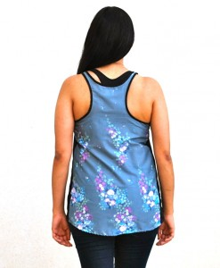 back of lallitara silver flowers rickshaw tank top