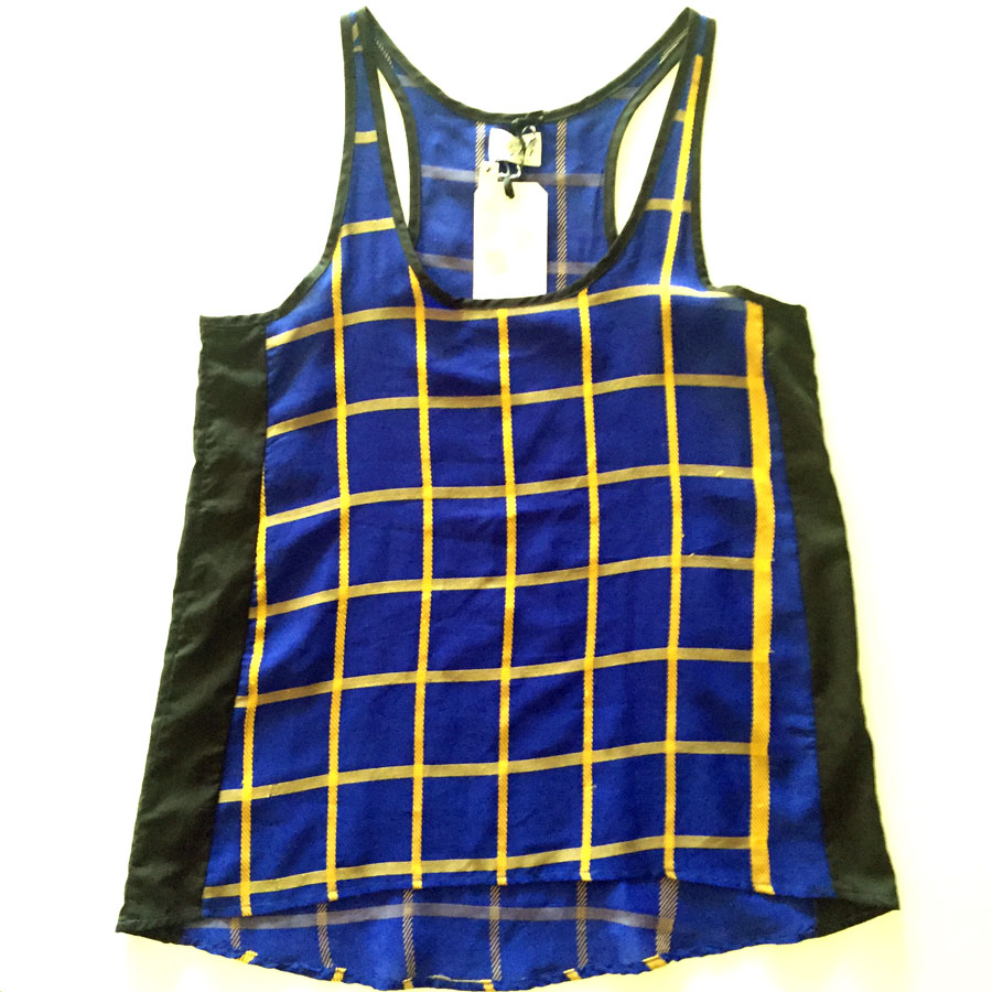 Blue and yellow plaid rickshaw tank top for Blue and yellow plaid dress shirt