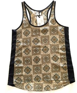 green paisley rickshaw tank top featured front