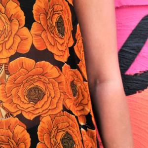 indian fabric details two flowers rickshaw tank top
