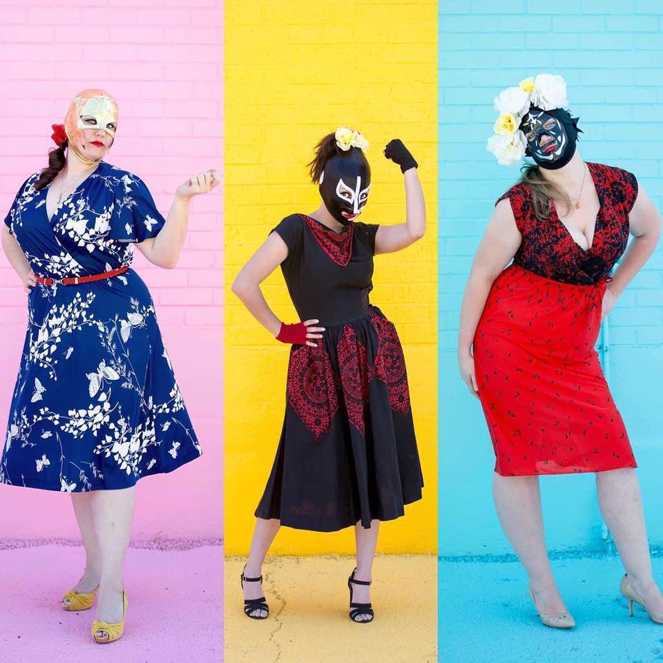 lady luchador vintage clothing look book by vida antigua