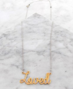 loved necklace 14k gold handmade jewelry