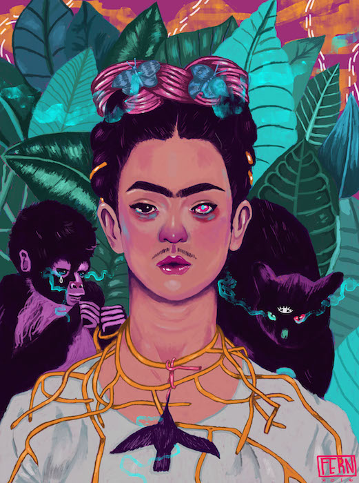 Frida Khalo by Nichole Fern Contemporary Artist