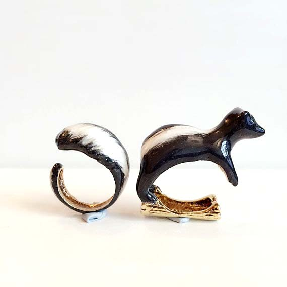 skunk 2 piece ring set handmade jewelry thailand