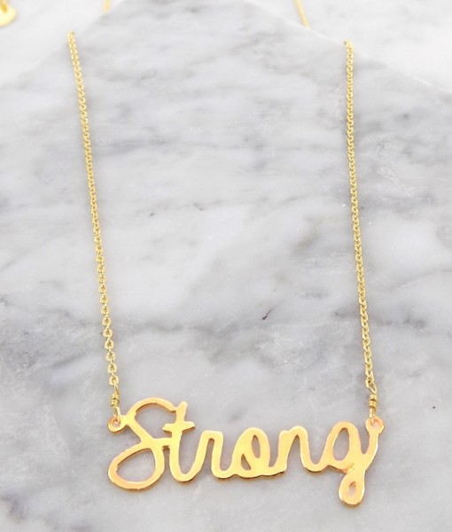 strong necklace handmade 14k gold