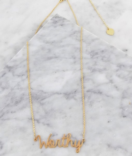 worthy necklace handmade gold jewelry Brenda Grands