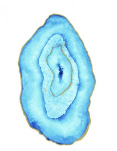 agate slice gemstone watercolor print by tess ciarloni etsy shop angean blog