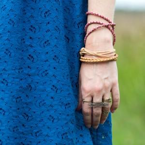 featured image easy carefree boho leather bracelet diy