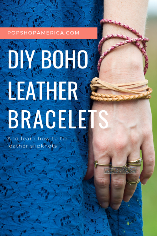 how to make diy leather bracelets tutorial pop shop america