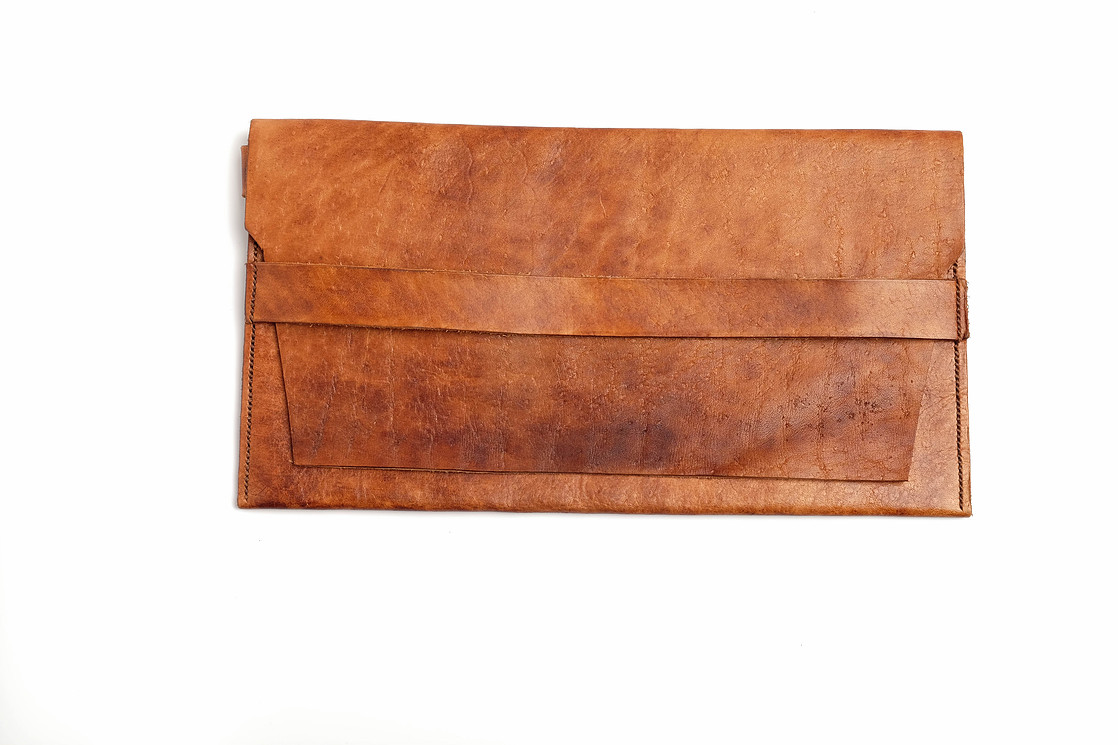 leather clutch by summer reeves