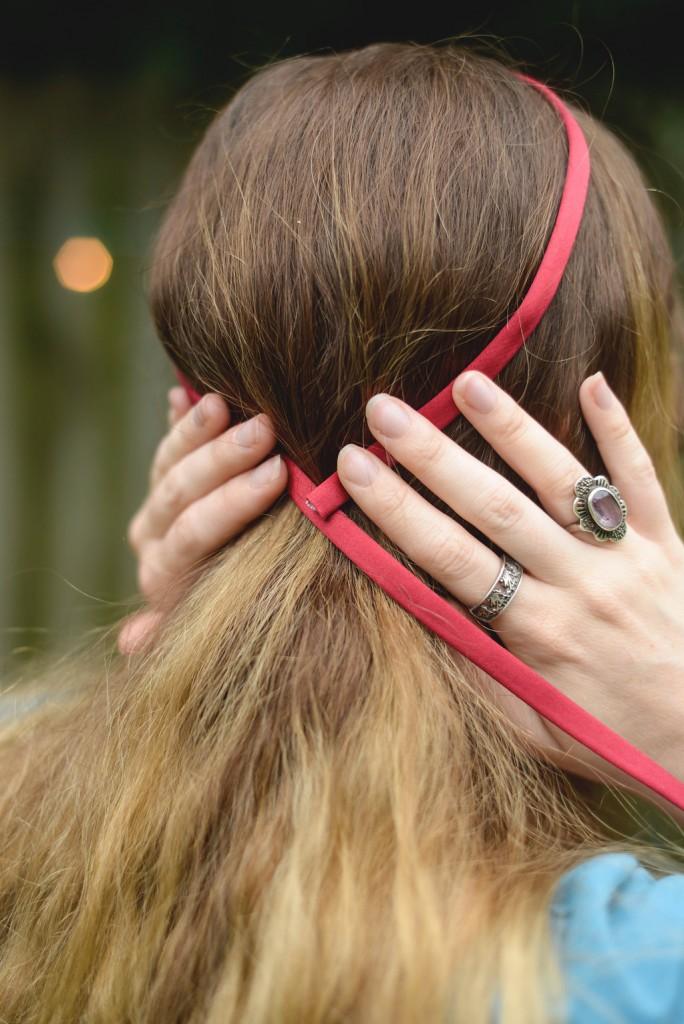 measure the length of the silk cord diy fairy tale updo instructions hair ideas
