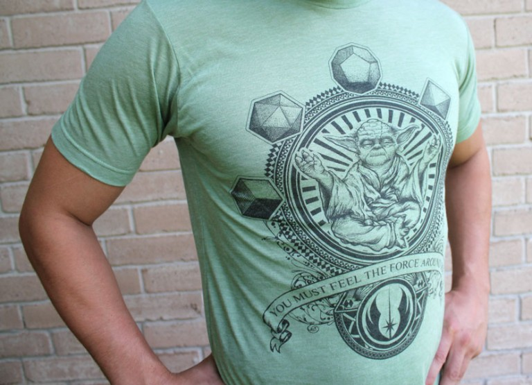 Close Up of Yoda T-Shirt Star Wars Clothes at Pop Shop America Handmade Boutique