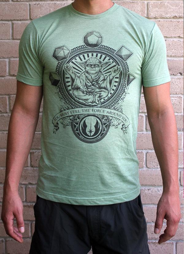 Yoda T Shirt by Point 506 Green Rad Star Wars T-Shirts Handmade Clothing