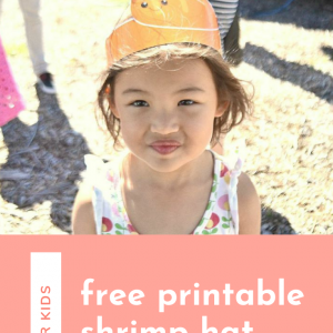 diy free printable shrimp hat pop shop america