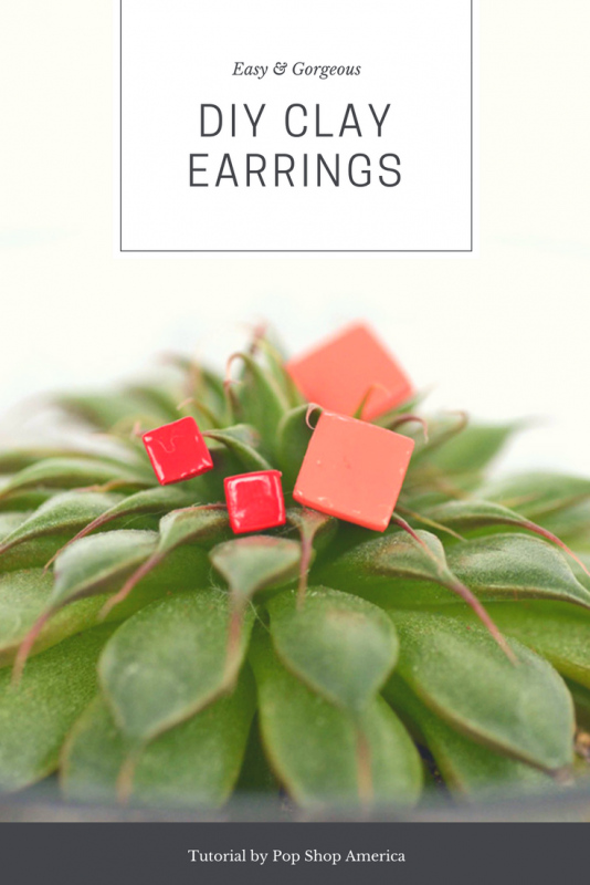 diy geometric clay earrings pop shop america