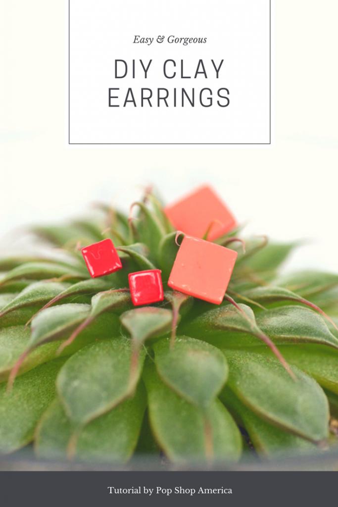 diy geometric clay earrings pop shop america