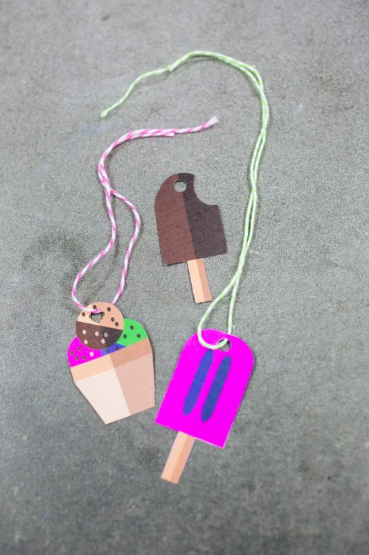 free printable ice cream cones gift tags cool crafts by pop shop america art blog