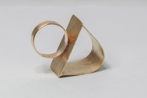 geometric ring by lee lewis handmade jewelry